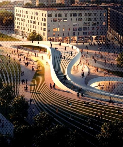 zaha hadid architects  alab to complete two metro stations in oslozaha hadid architects  alab to complete two metro stations in osl