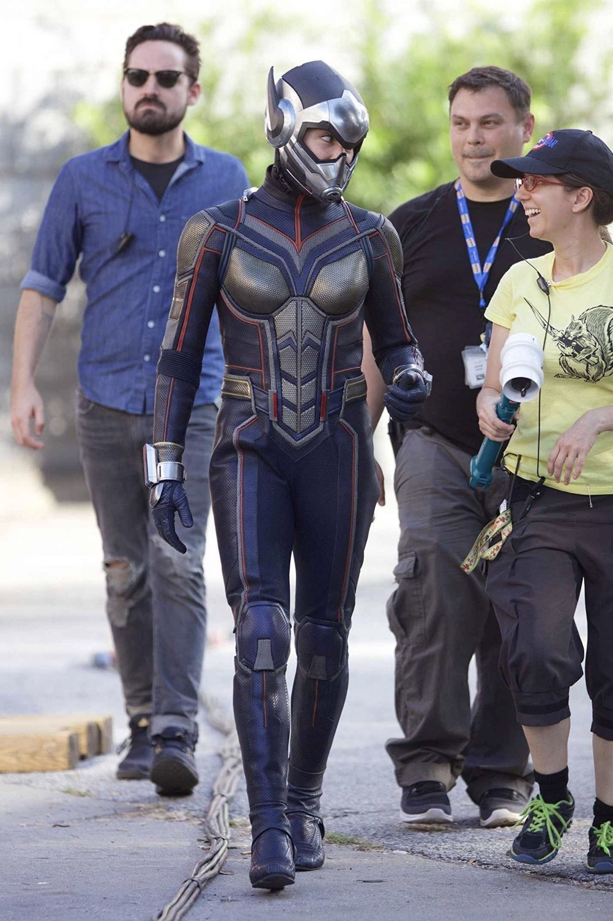 Behind The Scenes Evangeline Lilly Wasp Comic Book Heroes Marvel