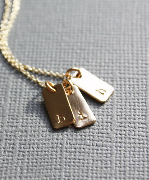 Necklace Pendant Custom Small Initial Necklace Pendant Christmas Gift Birthday Present