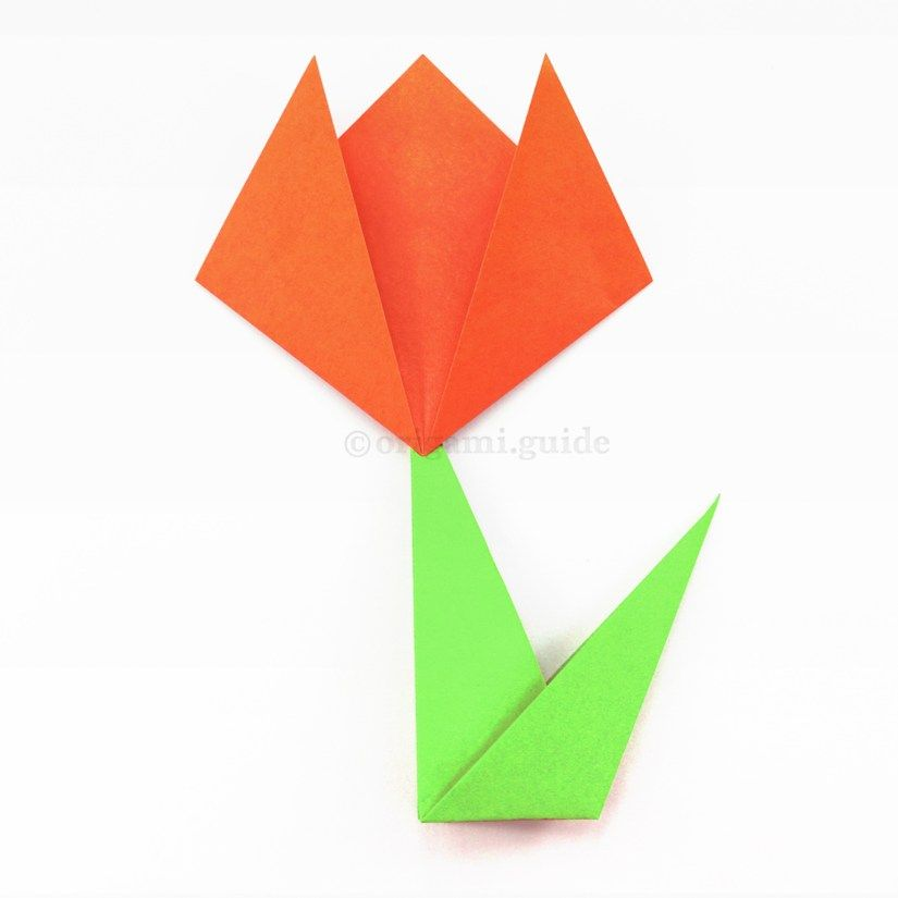 Learn how to make an easy origami flower easy origami flower learn how to fold a super easy origami flower on a stem these simple origami mightylinksfo