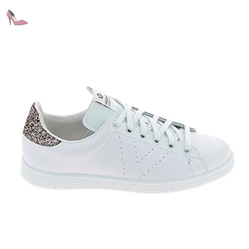 a9f183f273f41 VICTORIA Sneakers 1125104 Blanc Paillettes Rose - Chaussures victoria  (*Partner-Link)