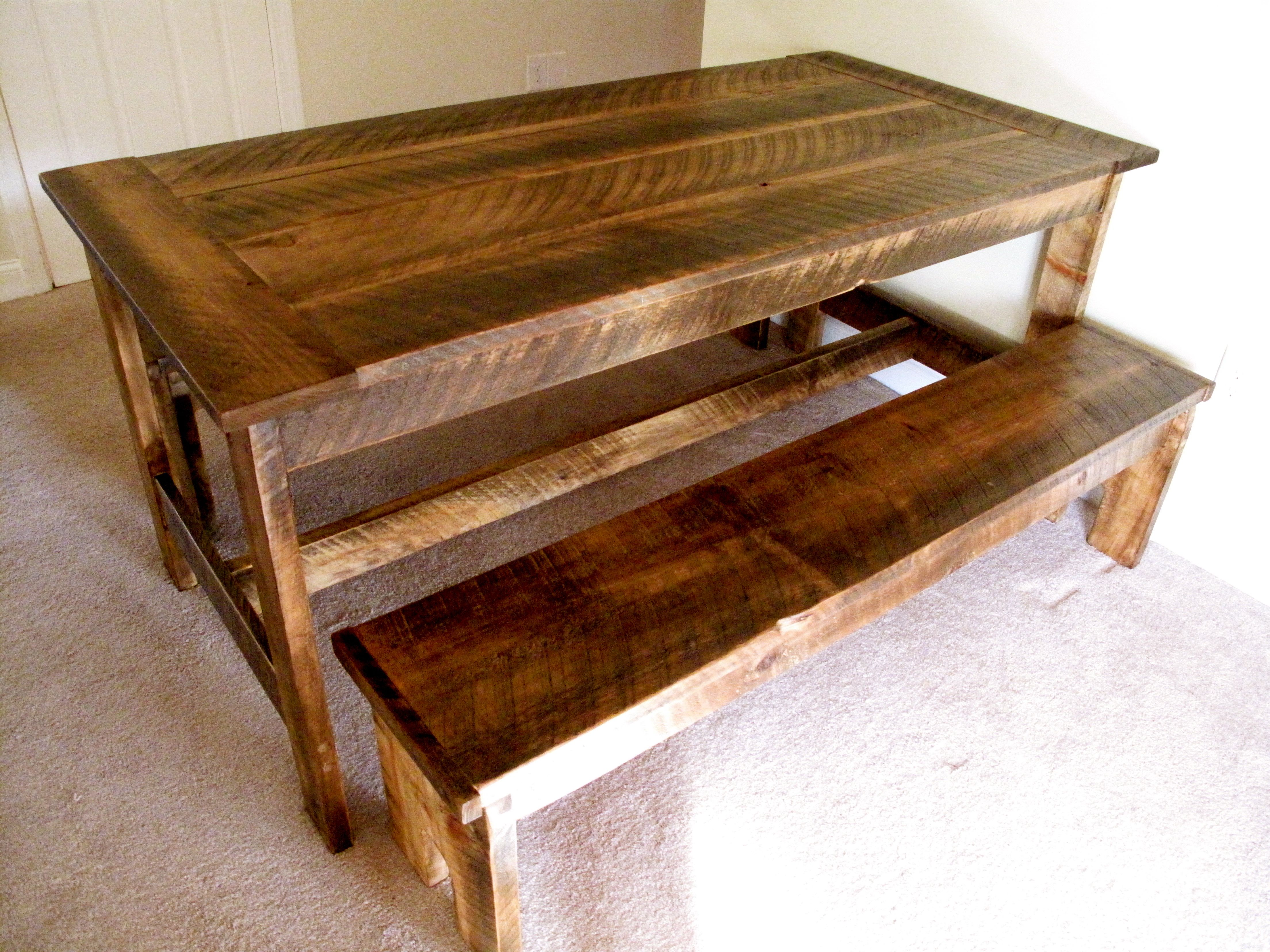image creative rustic furniture. Rustic Farmhouse Nesting Table. Quality, Handcrafted Furniture With Creative Character And Charm. Image D