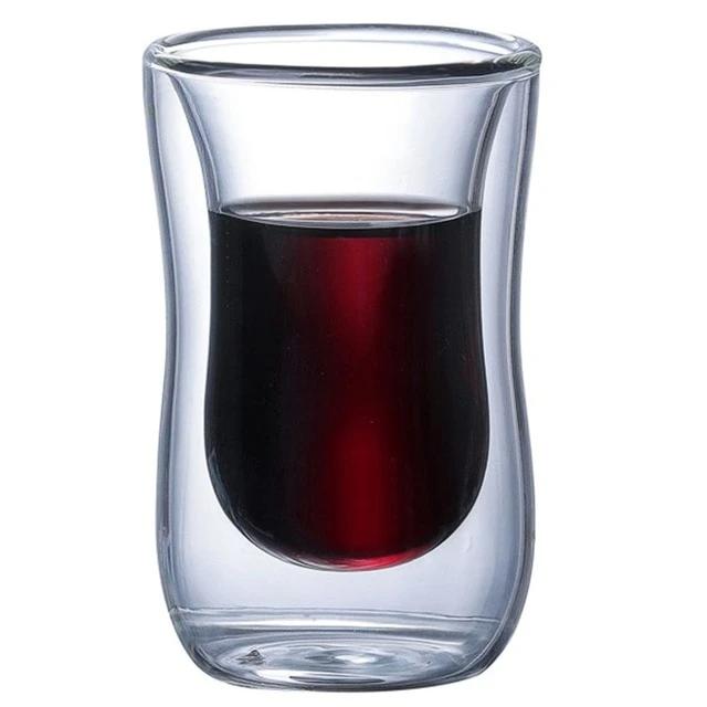 Double Wall Glass Cup Tea Coffee Mug Portable Transparent Glass Cup In 2021 Double Wall Glass Glass Glass Cup