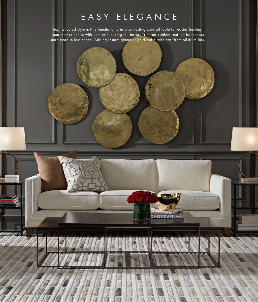 Mitchell Gold And Bob Williams Catalog Spring Collection 2016 Page 26 Gold Living Room Walls Quality Living Room Furniture Modern Furniture Living Room