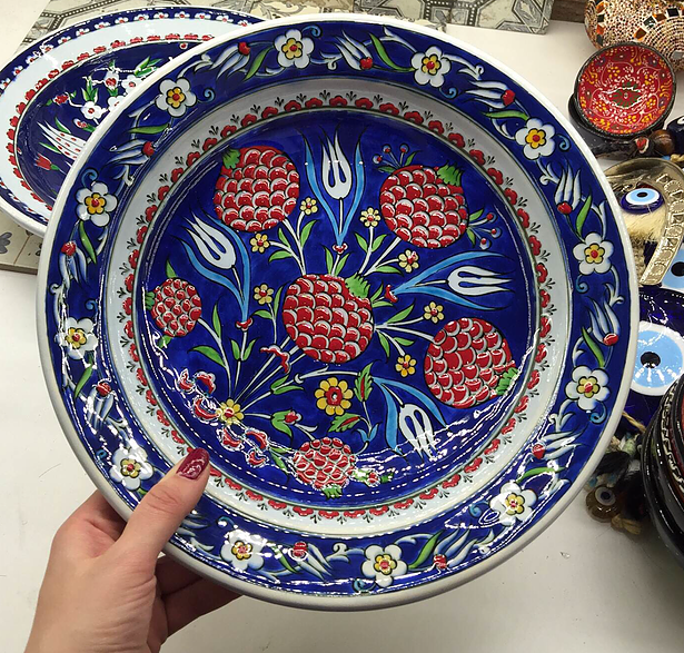 Grand Bazaar Shopping - Buy From Grand Bazaar Istanbul Shops. Pattern DesignsCeramic PlatesHand Painted : turkish ceramic plates - pezcame.com