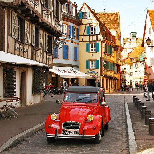 Red Citroën in Colmar ~