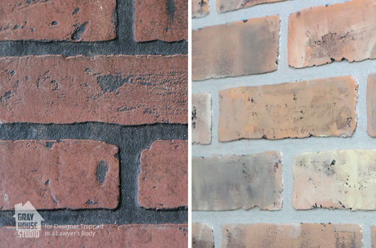 How To Paint A Faux Brick Wall Brick Accent Walls Faux Walls And Faux Brick