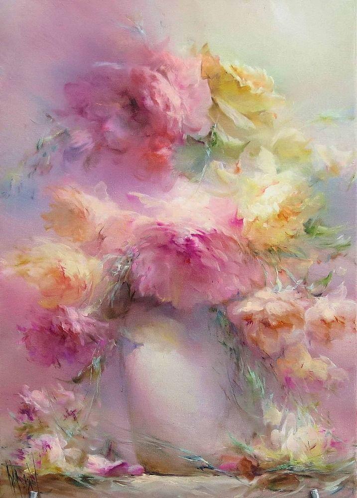 Красивые картин рисунки, картинка картины маслом цветы