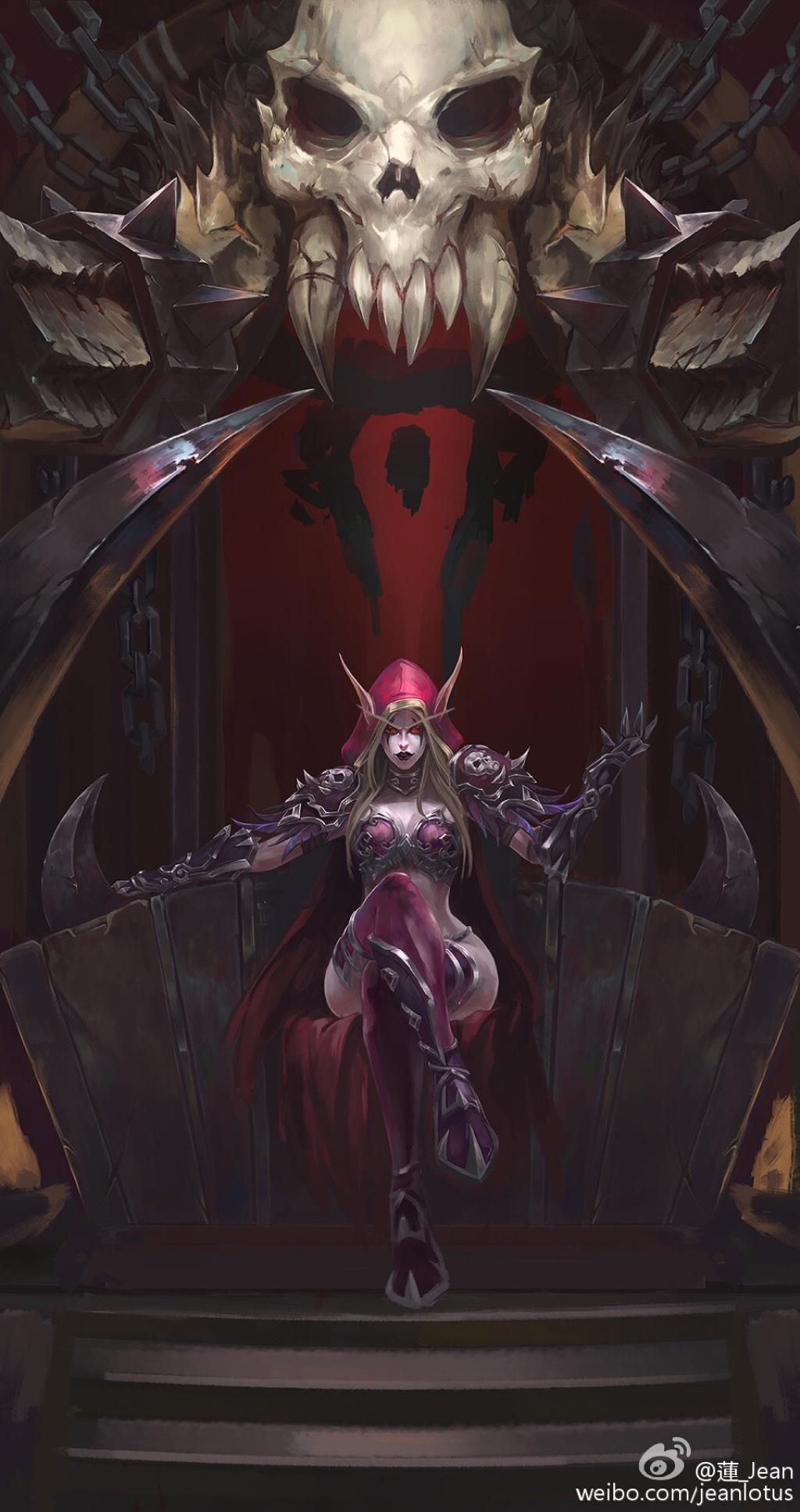 fishing chair wow tcg posture gaming warchief sylvanas by jean cheng pinterest