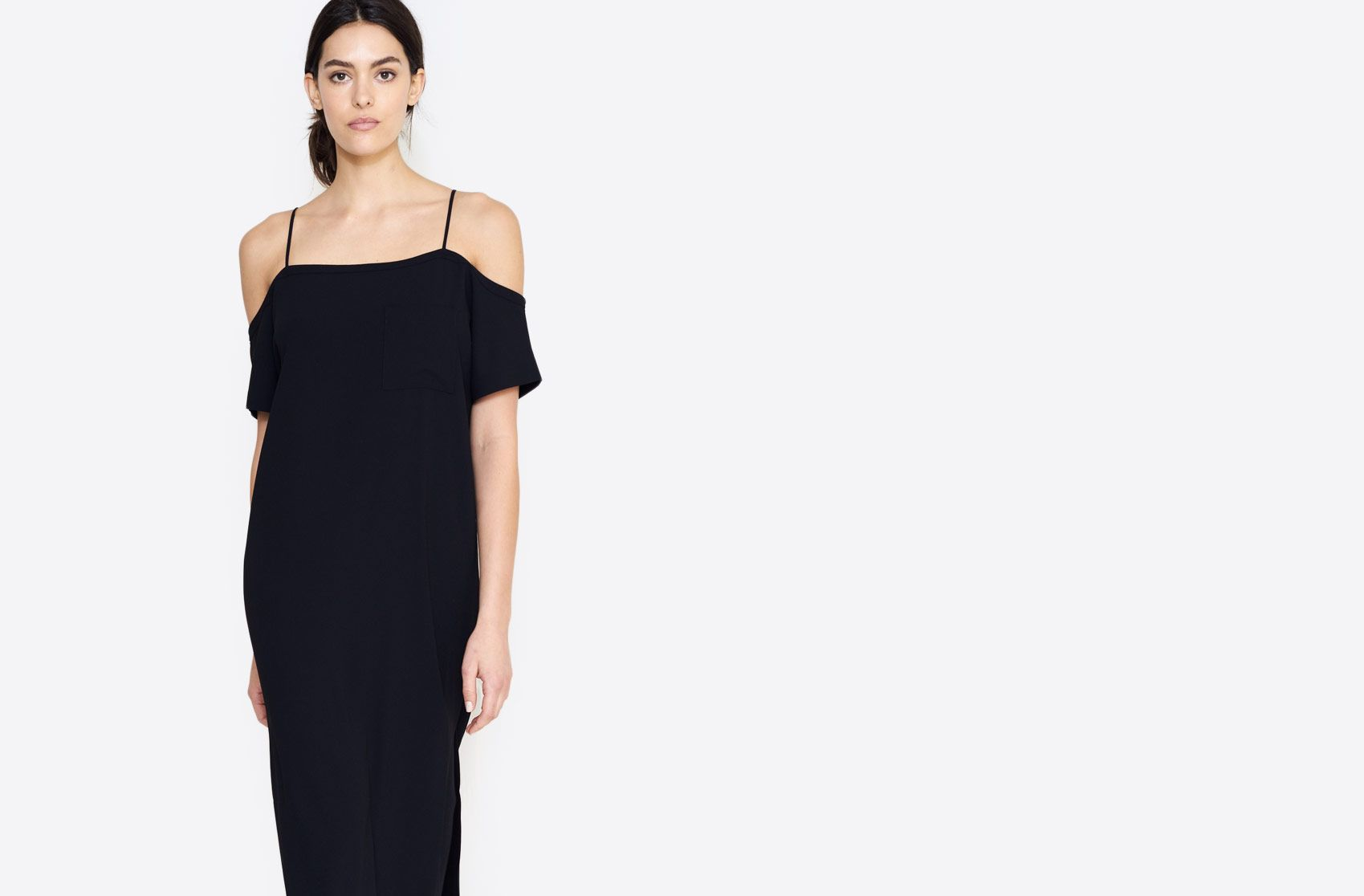 Alexander Wang Crepe Off-The-Shoulder Dress | Bird