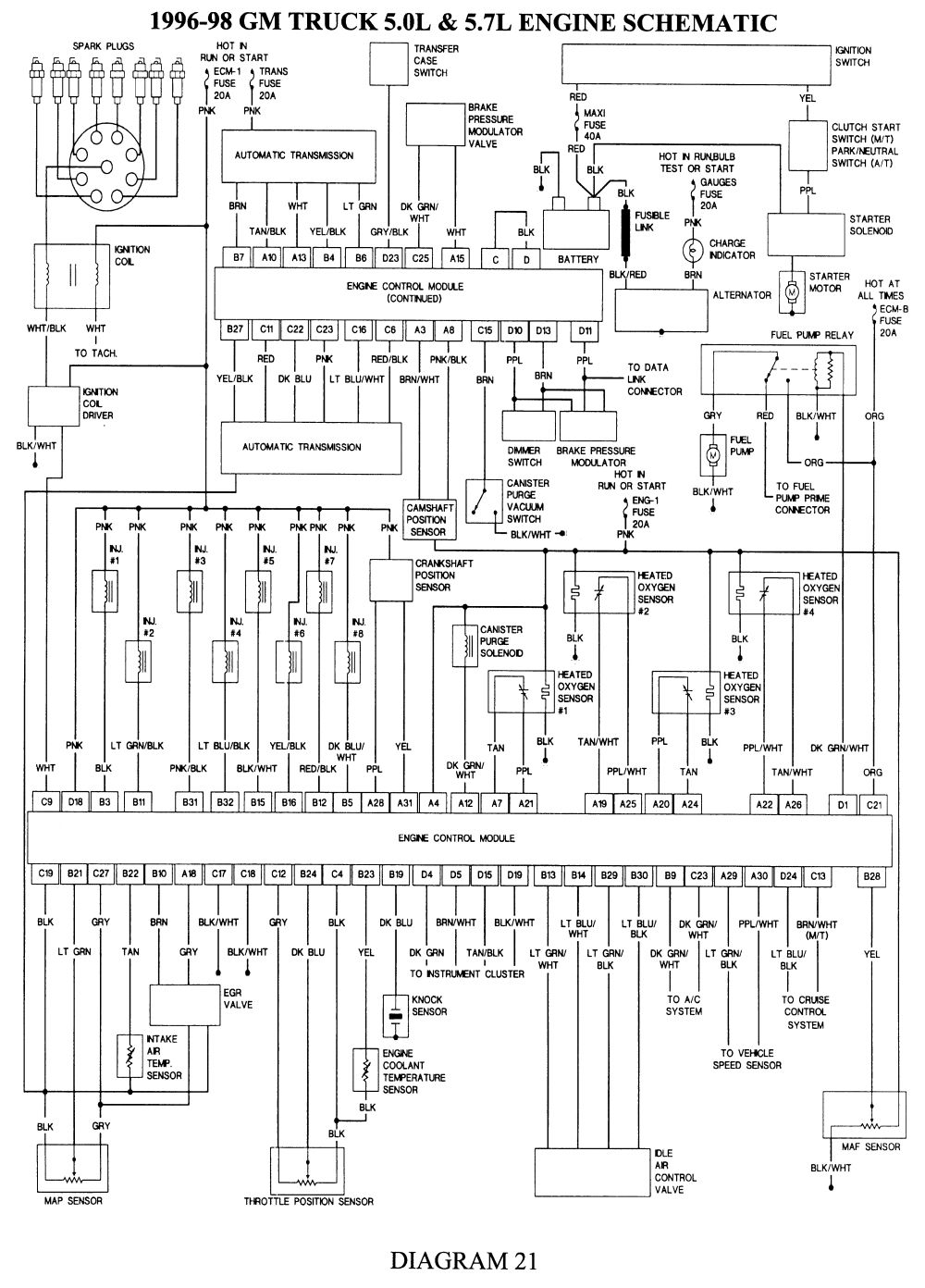 Electrical Wire Diagram 98 Chevrolet ... | Electrical diagram, Chevy  silverado, Repair guidePinterest