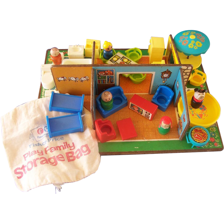 Fisher Price Play Family Rooms Complete From Grannyts On Ruby Lane Play Family Vintage Fisher Price Toys Fisher Price