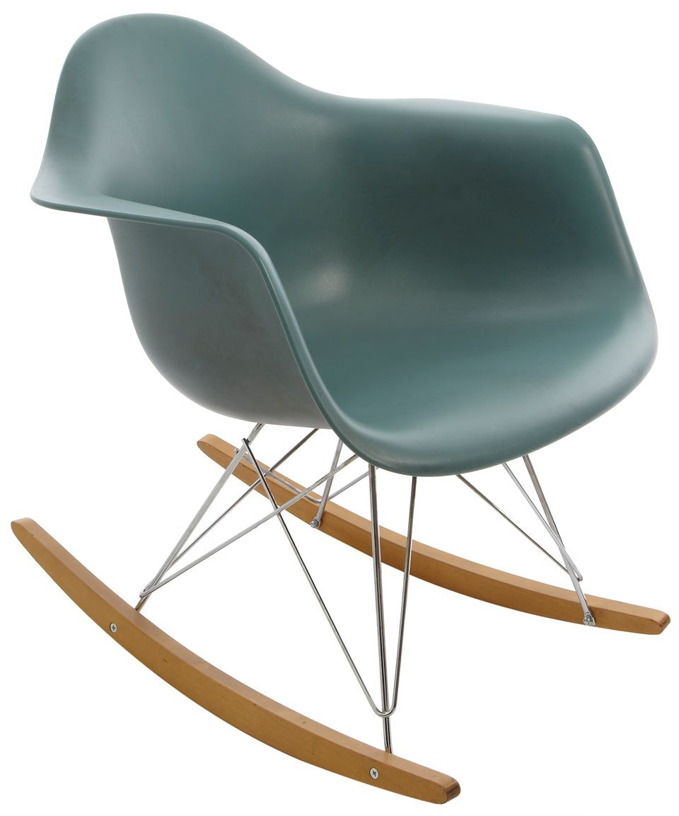 Blue Eames Rocking Armchair, from the Vitra collection at