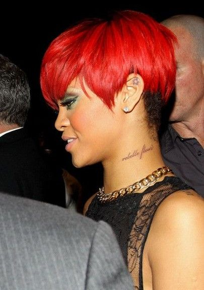 Rihanna Short Hairstyles Super Short Red Pixie Haircut Short Red Hair Rihanna Hairstyles Short Hair Styles