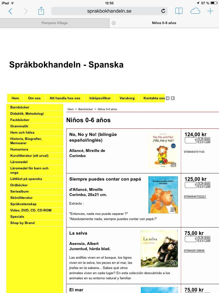 Jätte,ånga mysiga barnböcker på spanska:)