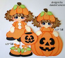listed on ebay...danderson651 Fall, Pumpkins, Girl, Paper Piecing, Scrapbooking