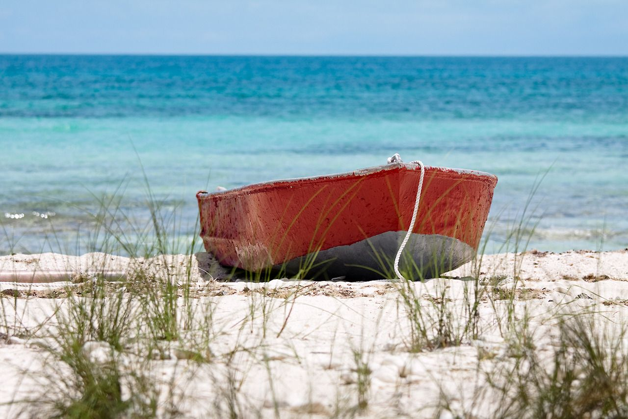 Red boat. Beach living, Great pictures, Beach