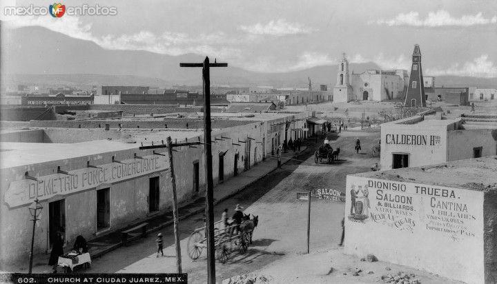 Calle del Comercio y Misión de Guadalupe (ca. 1905)