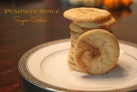 Pumpkin Spice Swirled Sugar Cookies
