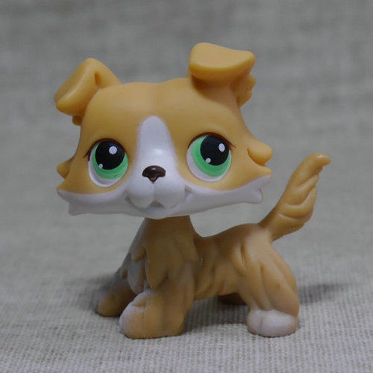 Lps 272 Collection Littlest Pet Shop Yellow Colly Collie Dog Rare