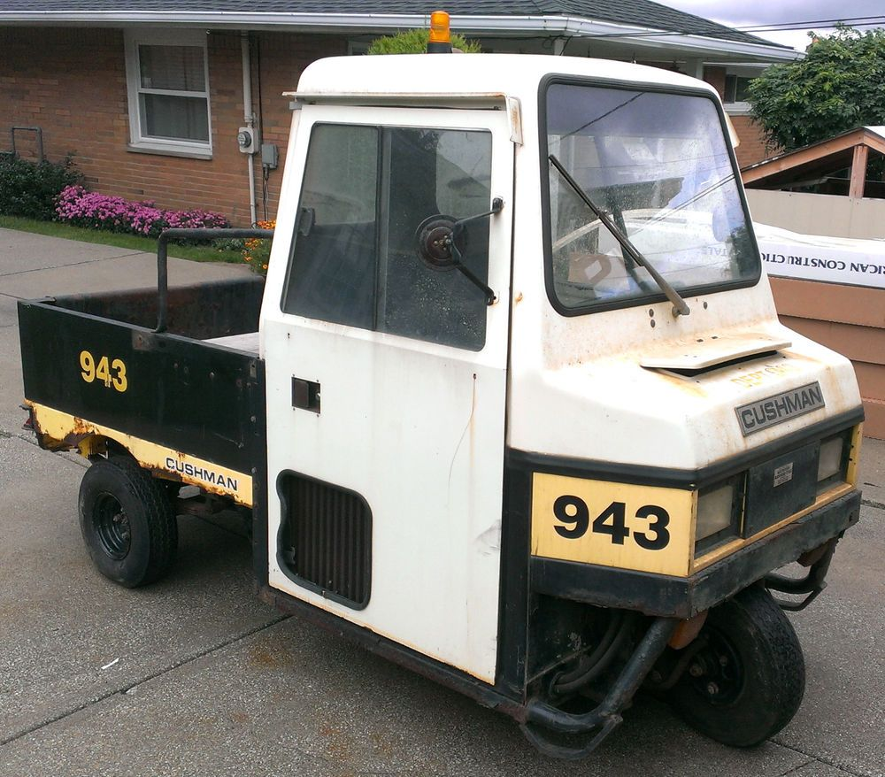 cushman 898461-b utility vehicle cart haulster truckster flatbed textron  doosan