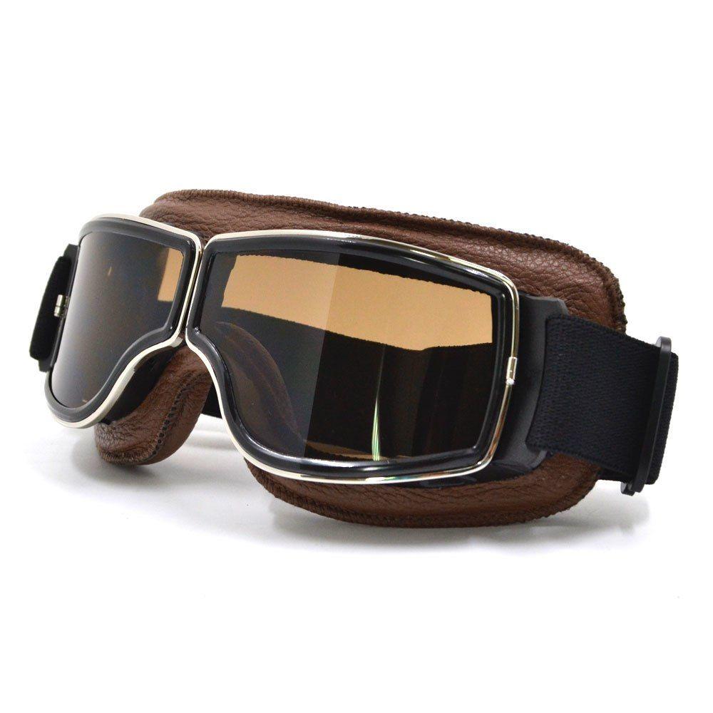 39d659339087 Best Seller NEW Harley Style Motorcycle Glasses Pilot Motorbike Goggles  Leather Retro Jet Helmet Eyewear