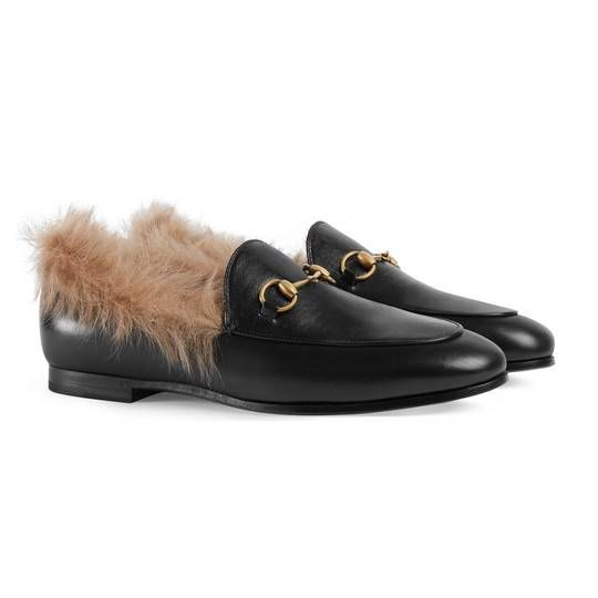 Gucci Jordaan leather loafer in Black leather   Gucci Women s Moccasins    Loafers c7792a39620