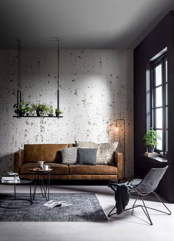 Tendance Industrielle Sofa A Trois Places Industrial Design 3 Seater Sofa Deco Maison Decoration Salon Deco Salon