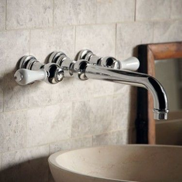 Wall Mounted 3 Hole Basin Mixer - Taps & Mixers - Shop by type - Bathrooms   Fired Earth