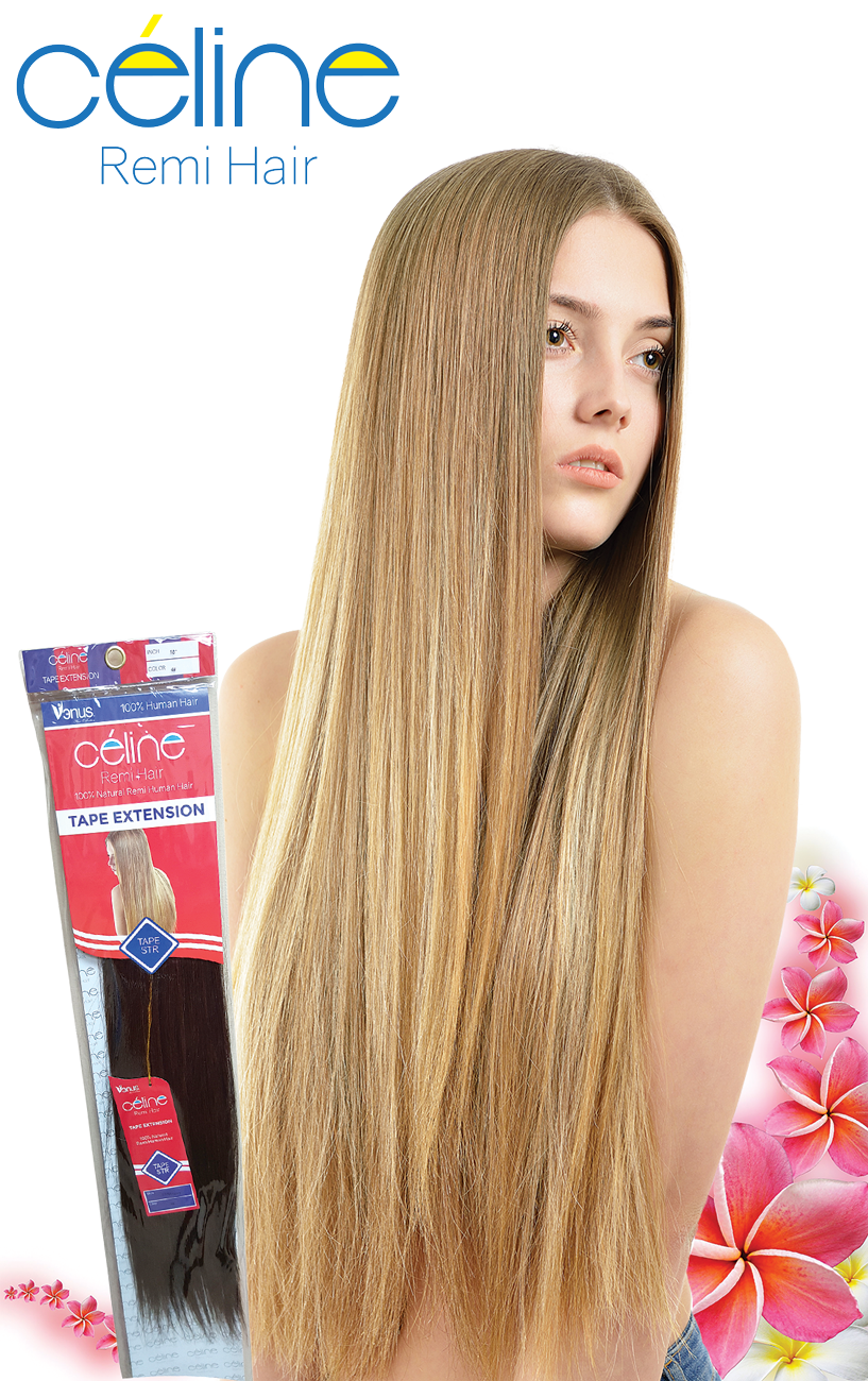 Natural Remi Tape Straight By Celine Hair Wigs Extensions