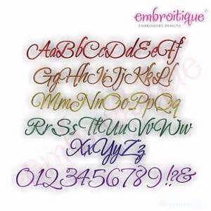 Fancy Writing Fonts Alphabet Thatcher Script Embroidery