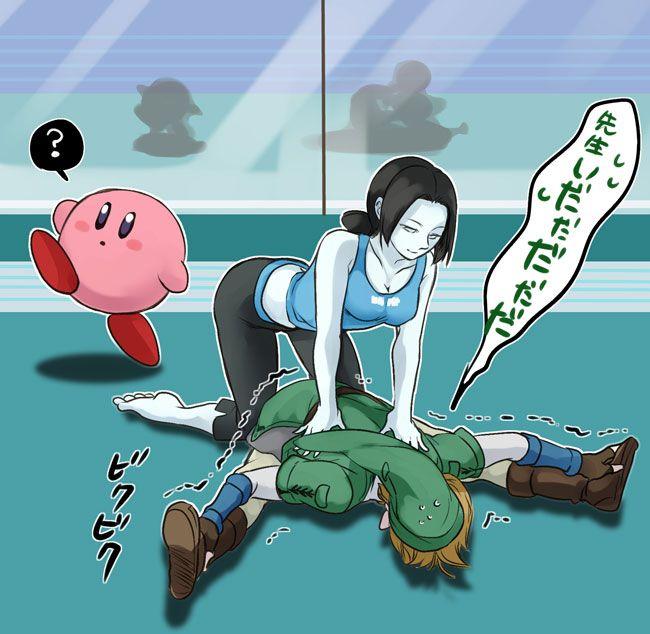 Wii Fit trainer in Smash Bros fan art :s | #Kirby #Link #WiiU