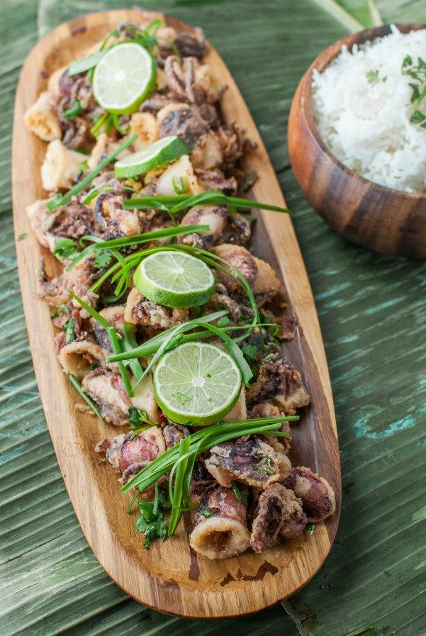 cantonese salt + pepper squid