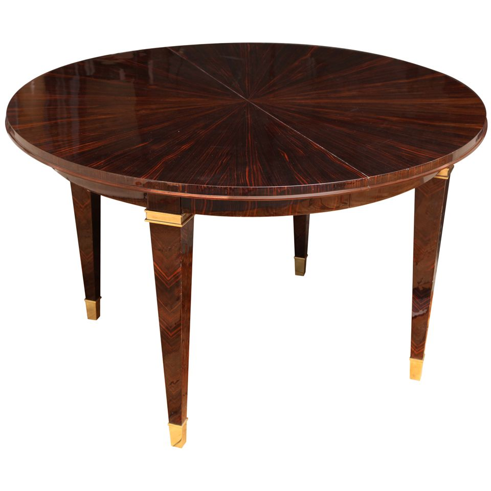 Superb Art Deco Round Dining Table