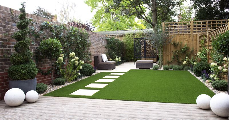 Artificial Grass Garden Designs amazing garden with some great artificial grass perfectly manicured with next to no maintenance all Back Gardens Easigrass Uk Website