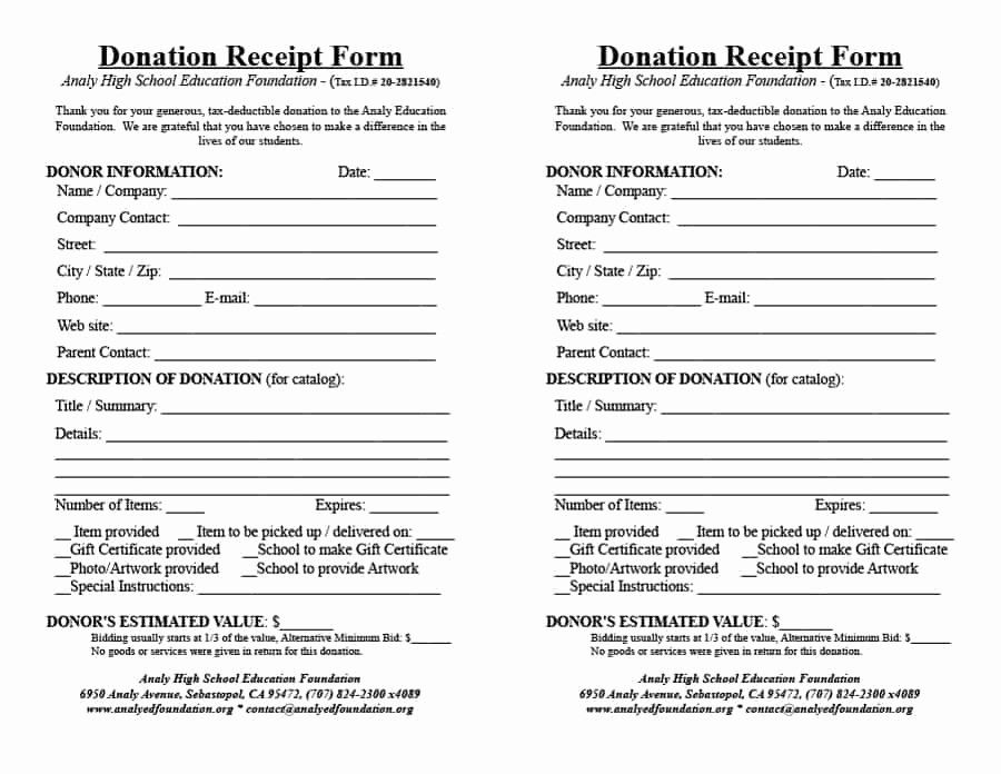New 40 Donation Receipt Templates & Letters [goodwill Non Profit] in 2020 | Receipt template ...