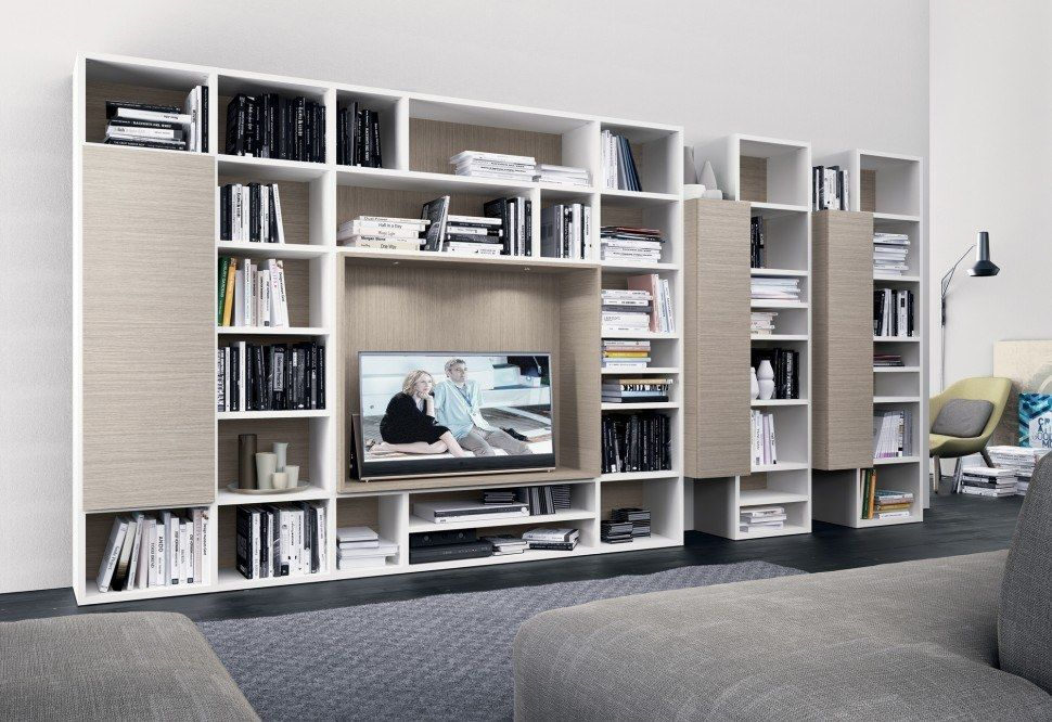 Soggiorni in stile moderno torino sumisura fabbrica for Mobili librerie torino