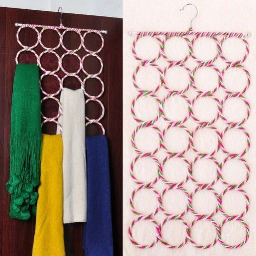Scarf Holders - 20 Creative Ways to Organize and Decorate with Hangers