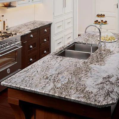 Allen Roth Vena Granite Kitchen Countertop Sample At Lowes Com
