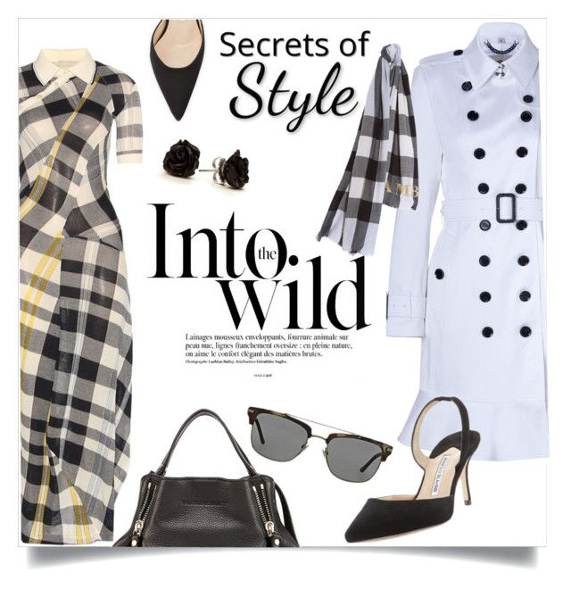 Secrets of Style by clotheshawg on Polyvore featuring polyvore, fashion, style, Burberry, Manolo Blahnik, Anja and clothing