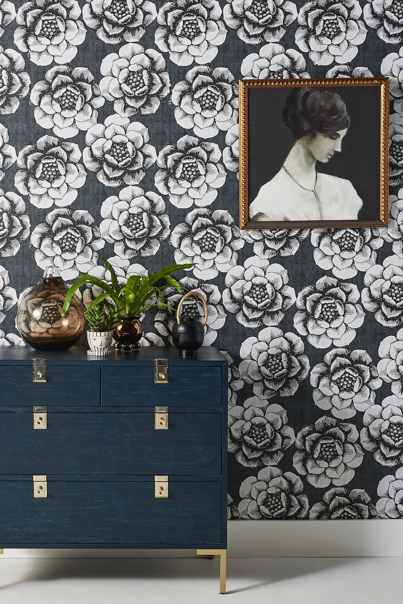 Fanciful Floral Wallpaper Anthropologie In 2020 Fl