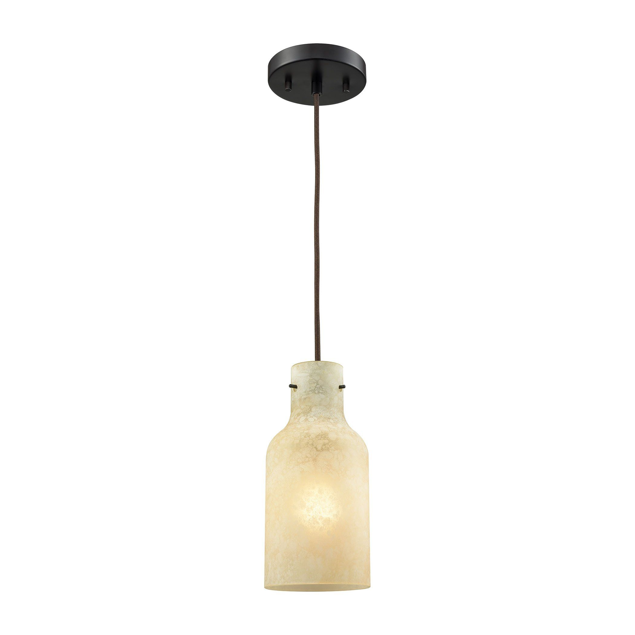 Weatherly 1 Light Pendant In Oil Rubbed Bronze With Chalky Beige Glass Includes Recessed Lighting K With Images Pendant Lighting Elk Lighting Recessed Lighting