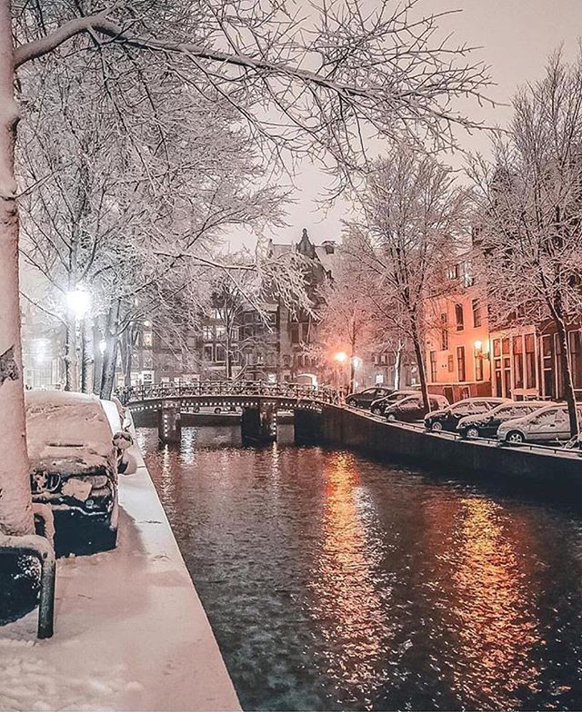 "Photo of Gözde on Instagram: ""Who missed the snow? Werbung // Advertising // credit: @ gabriel.guita but I also missed Amsterdam 💙🎐 Have you ever been to… """
