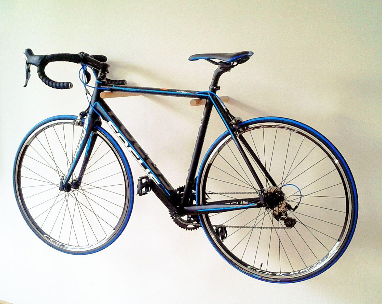 Bike rack oak by onthewall22 on etsy bike hooks bike