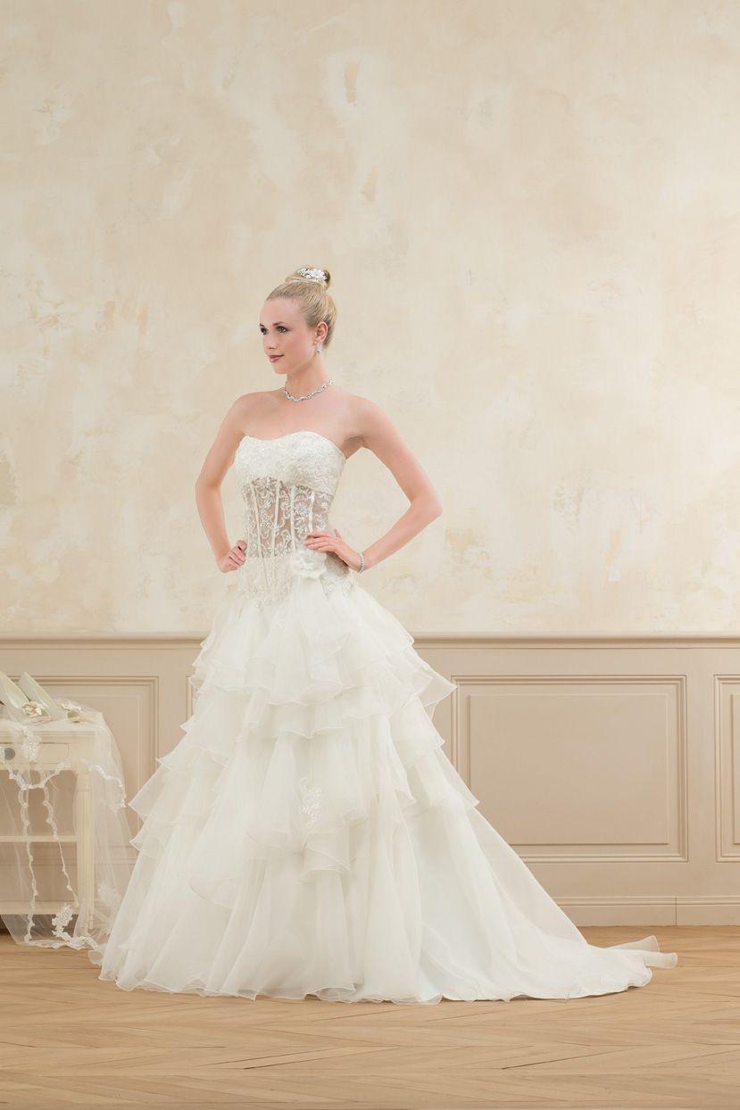 Robe mariee avec bustier transparent
