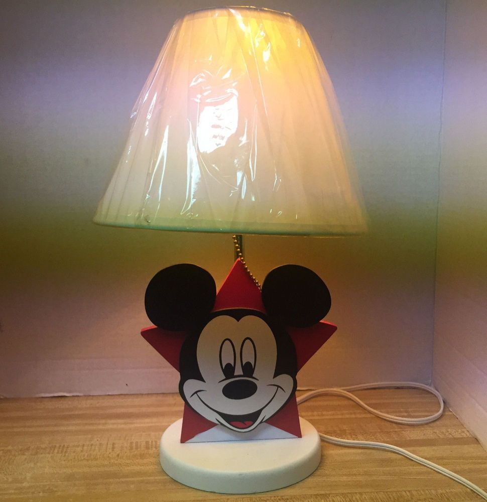 Vintage disney mickey mouse star table lamp works vintage disney vintage disney mickey mouse star table lamp works arubaitofo Choice Image