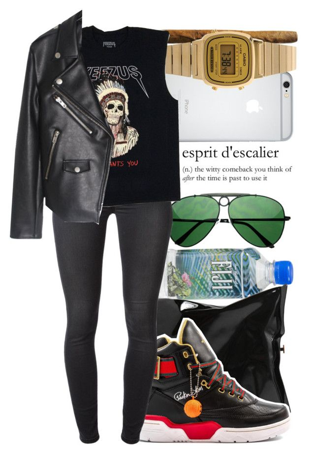 ·In fresher than a motherfücker· by endeyah on Polyvore featuring moda, 7 For All Mankind, Anya Hindmarch and Casio