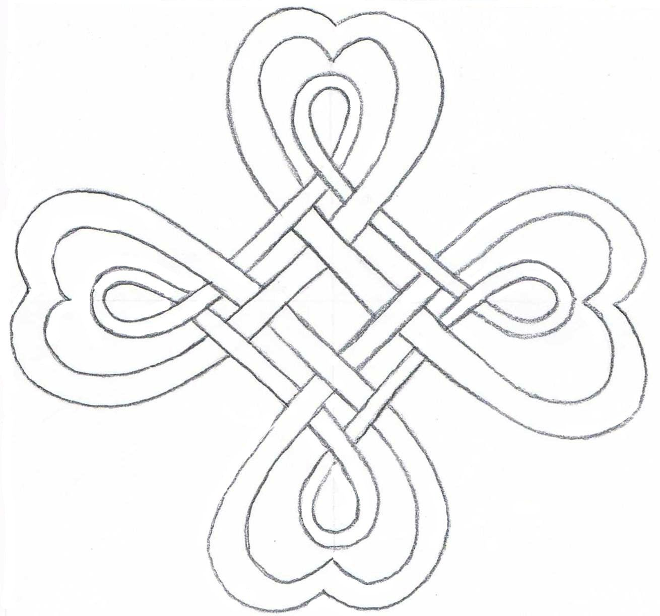 CloverFree printable coloring clovers | Your Celtic Four Leaf Clover ...