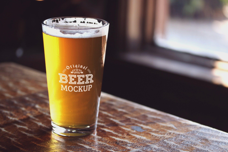 Beer Glass Mock Up 63 Mockup Beer Beer Glass