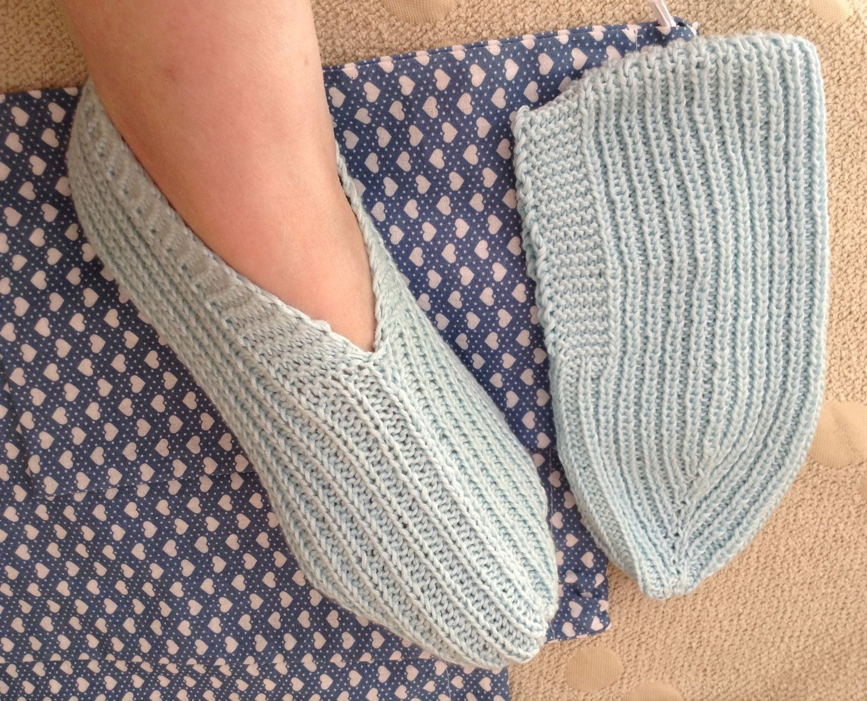 chaussons a tricoter pour femme